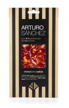 Chorizo ibérique nourri de glands grande réserve Arturo Sánchez, découpé à la main.